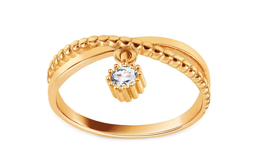 Zlatý prsten se zirkonem Diarria IZ13812Y