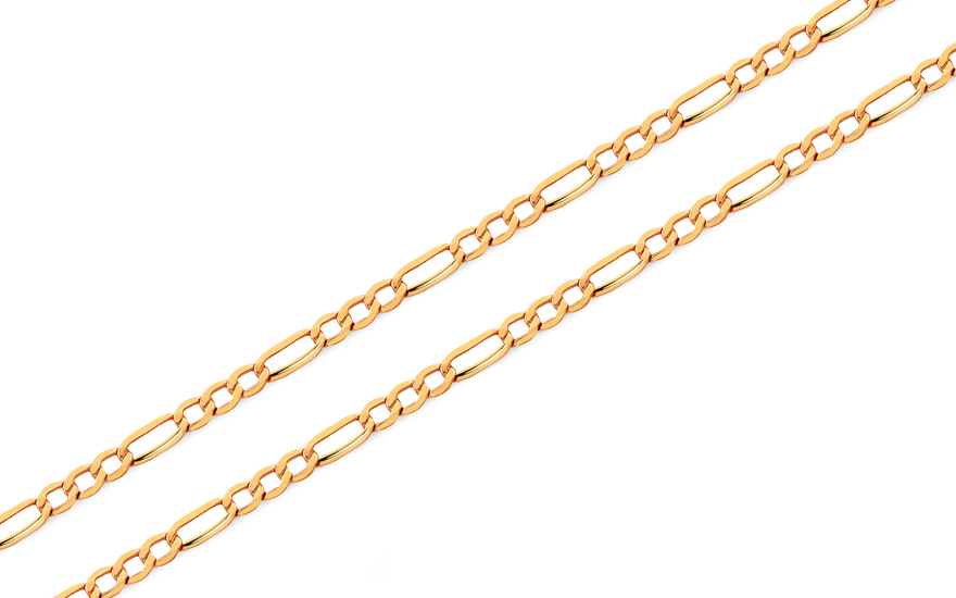 Zlatý řetízek Figaro 1,5 mm IZ4906