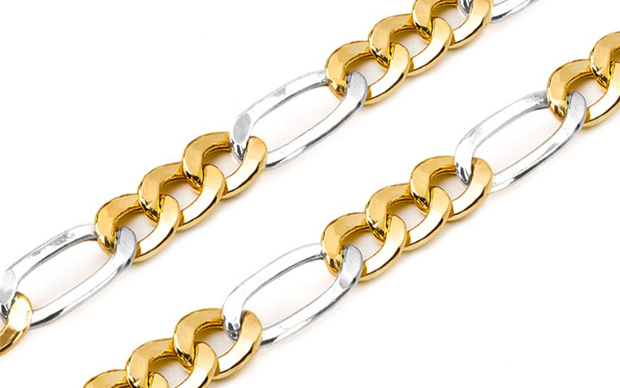 Zlatý řetízek Figaro 6 mm KOCH163