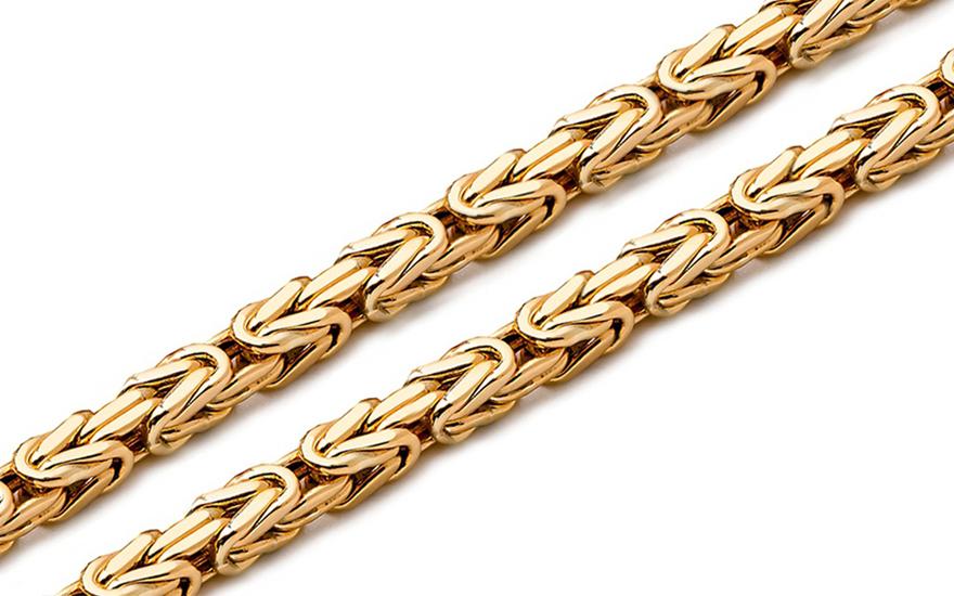 Zlatý řetízek královský vzor 3 mm IZ54