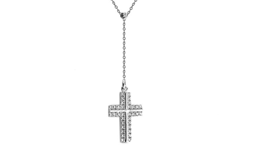 Zlatý řetízek s přívěskem křížek IZ7755