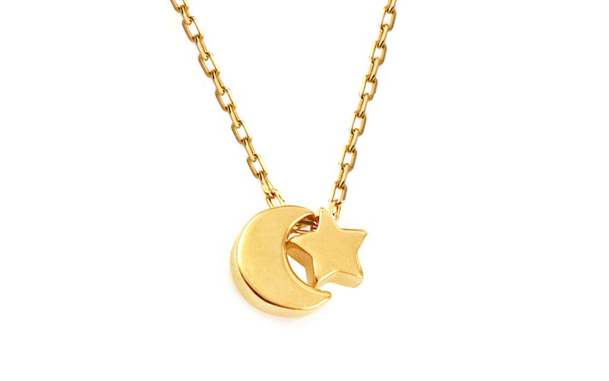 Zlatý řetízek s přívěsky Hvězdná noc IZ10589