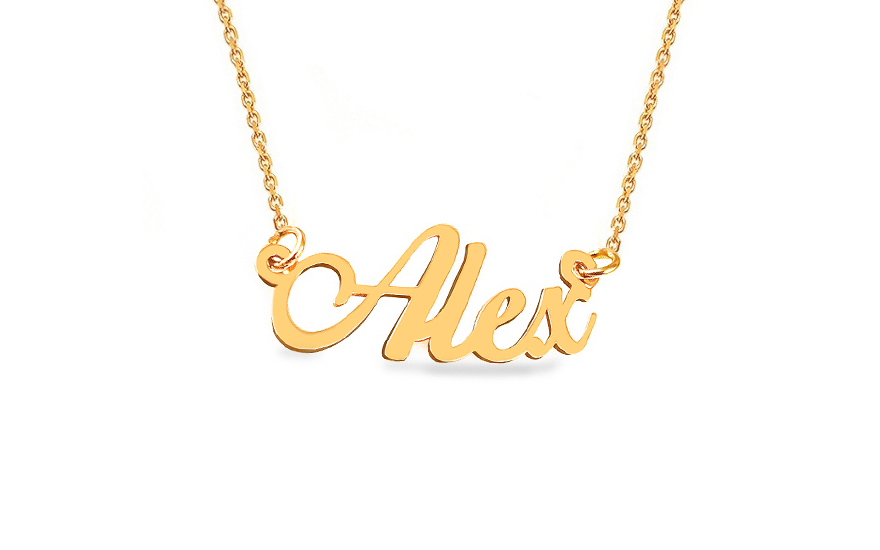 Zlatý řetízek se jménem Alex IZ9077