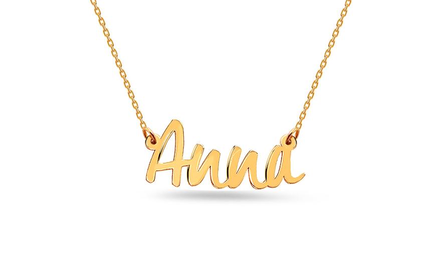 Zlatý řetízek se jménem Anna IZ12301