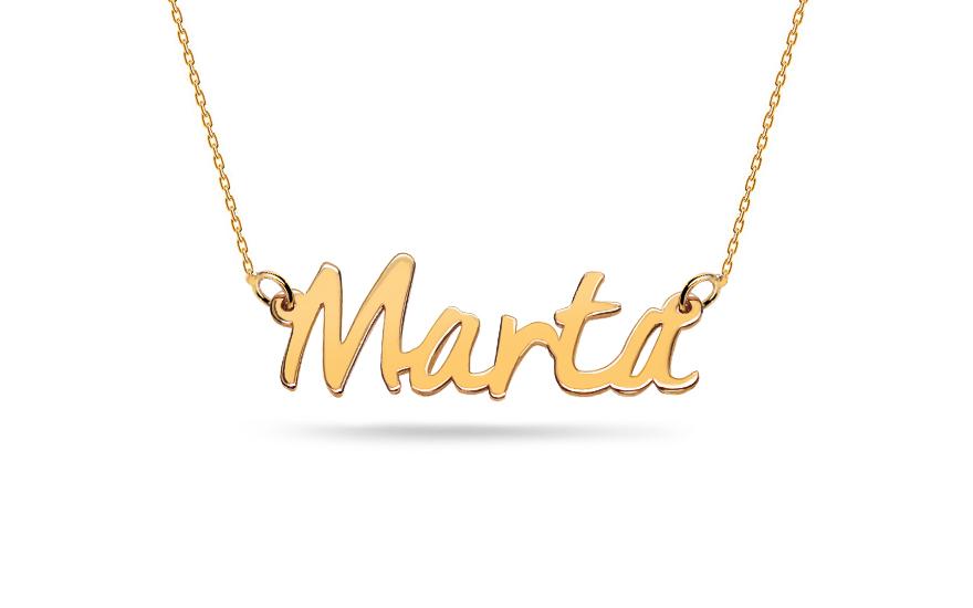 Zlatý řetízek se jménem Marta IZ12302