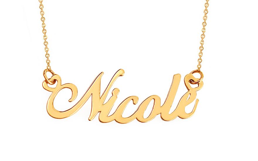 Zlatý řetízek se jménem Nicole IZ12028