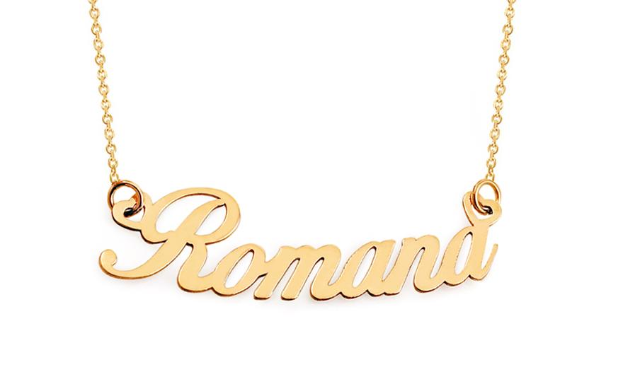 Zlatý řetízek se jménem Romana IZ11583