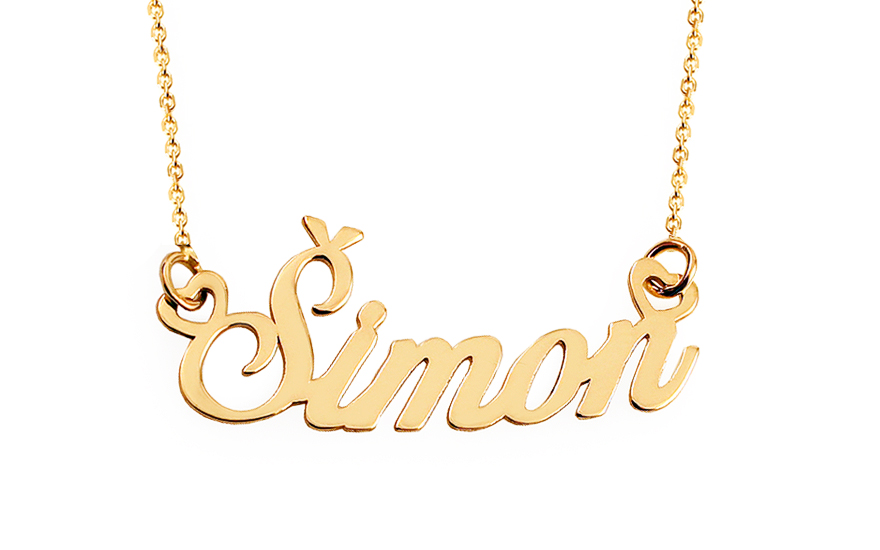 Zlatý řetízek se jménem Šimon IZ11859