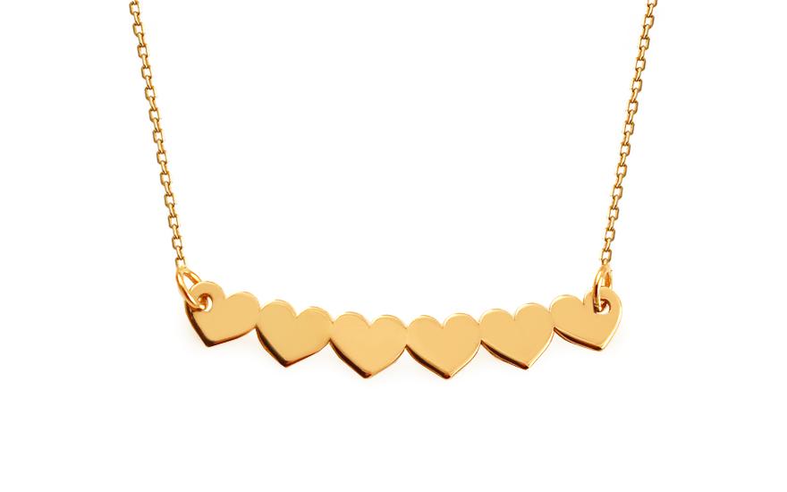 Zlatý řetízek se srdíčky IZ13571
