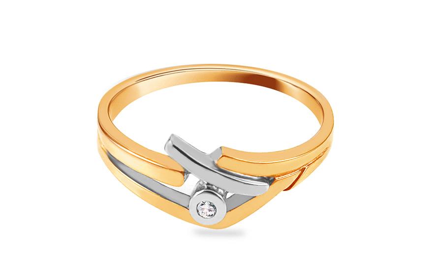 Zásnubní prsten s briliantem 0,015 ct The discovery of love CSBR05