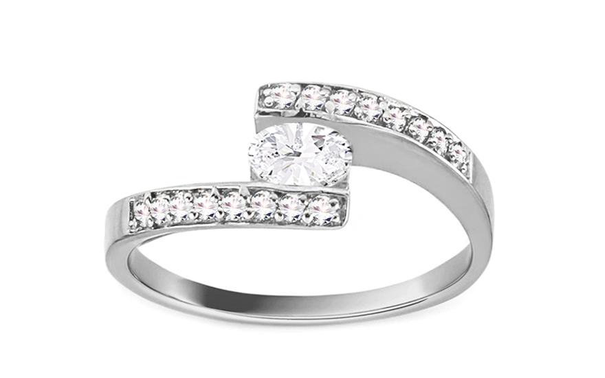 Zlatý zářivý zásnubní prsten Isarel 1 white CSRI709A