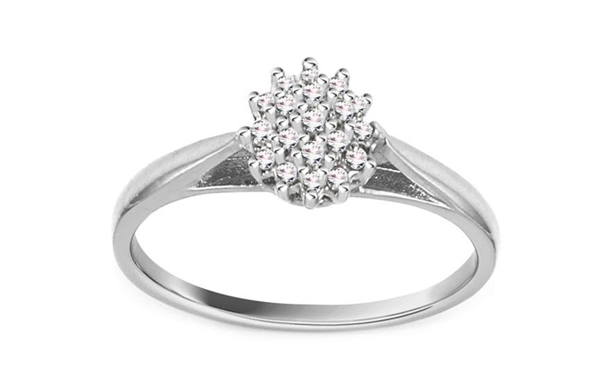 Zlatý zásnubní prsten ALEJANDRA 1 white CSRI717A