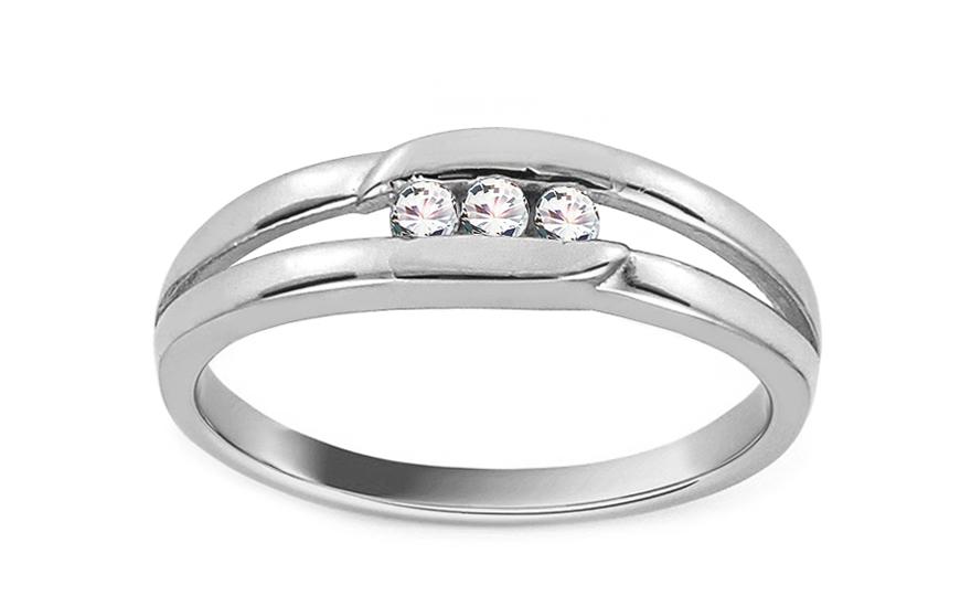 Zlatý zásnubní prsten Barbara 1 CSRI866A