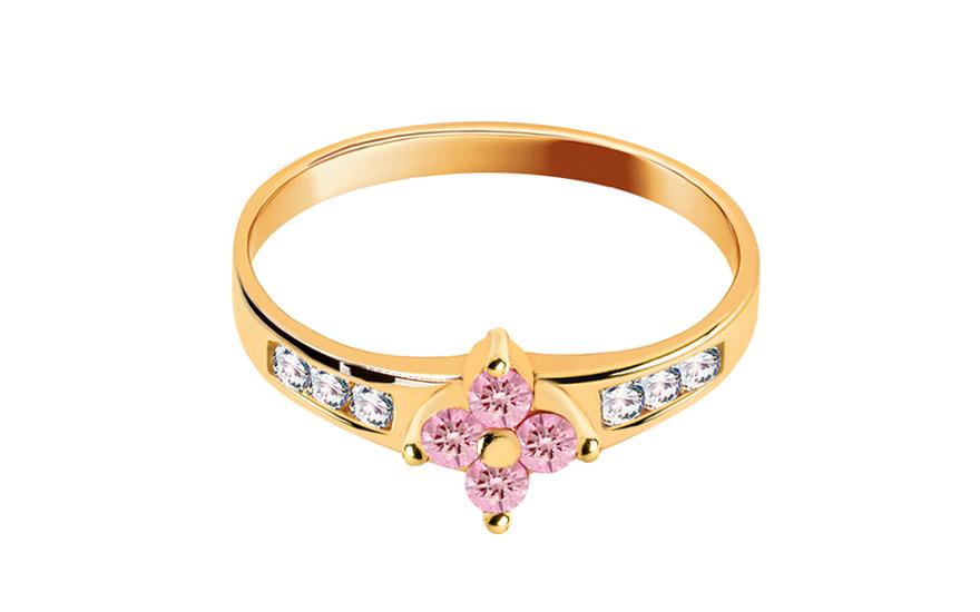 Zlatý zásnubní prsten Carmen 3 CSRI1163B