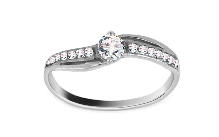Zlatý zásnubní prsten Charlie 2 white CSRI960A