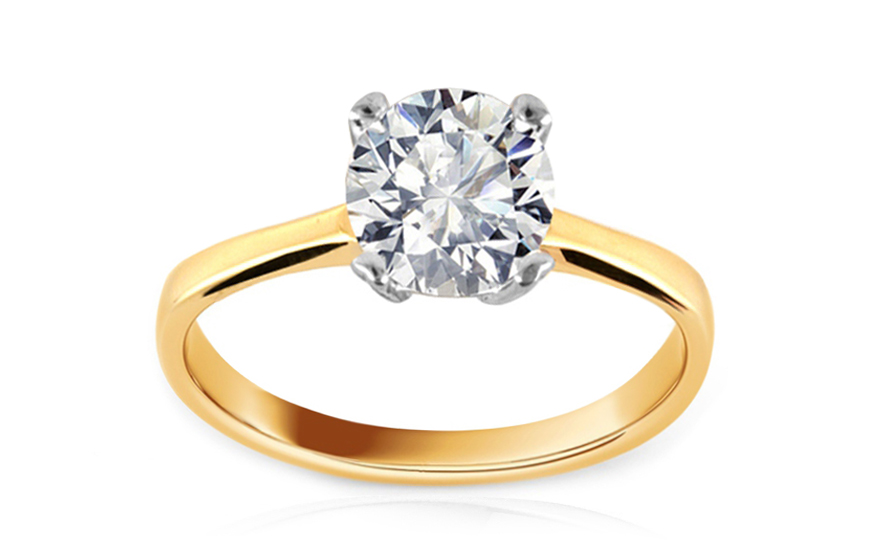 Zlatý zásnubní prsten Daria IZ8796