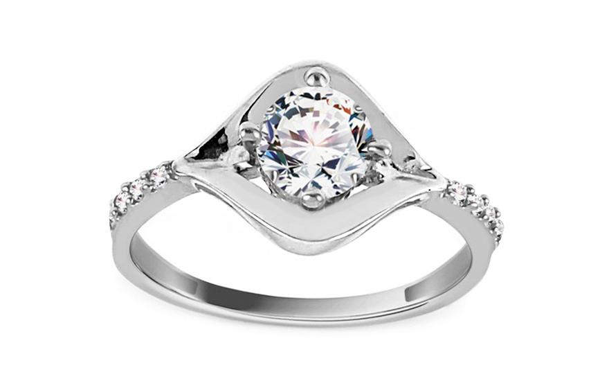 Zlatý zásnubní prsten EYE white CSRI930A