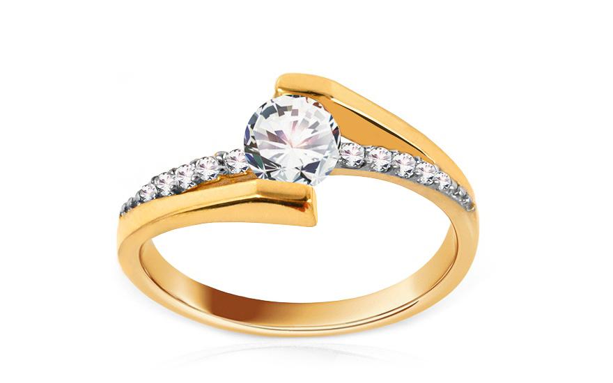 Zlatý zásnubní prsten Giggi IZ8897