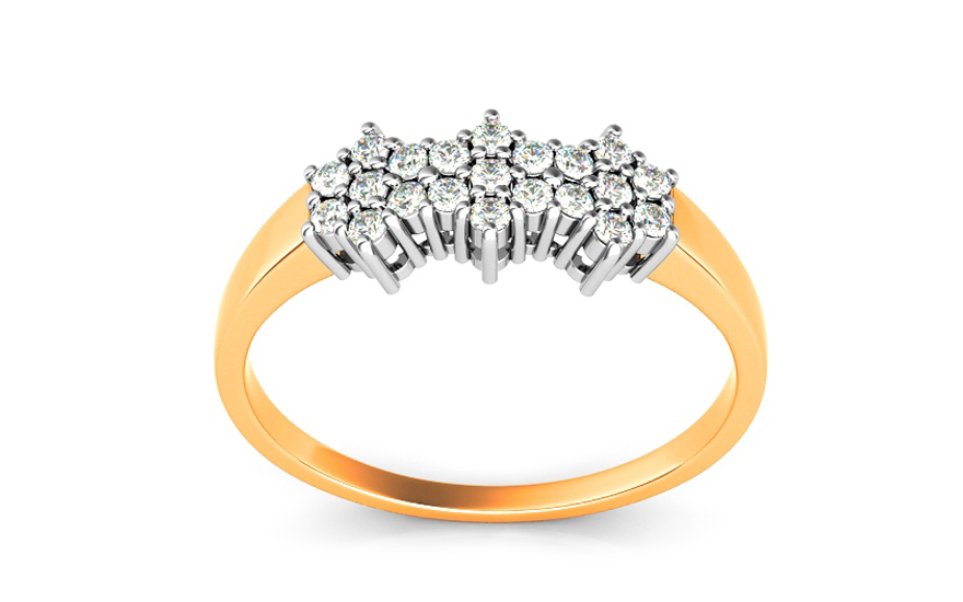 Zlatý zásnubní prsten Ines 1 CSRI730