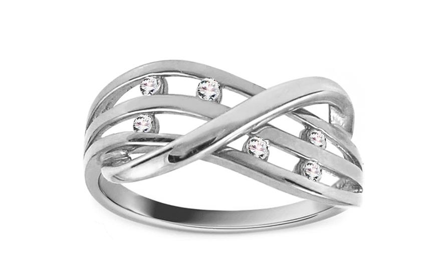 Zlatý zásnubní prsten Ines 2 white CSRI842A