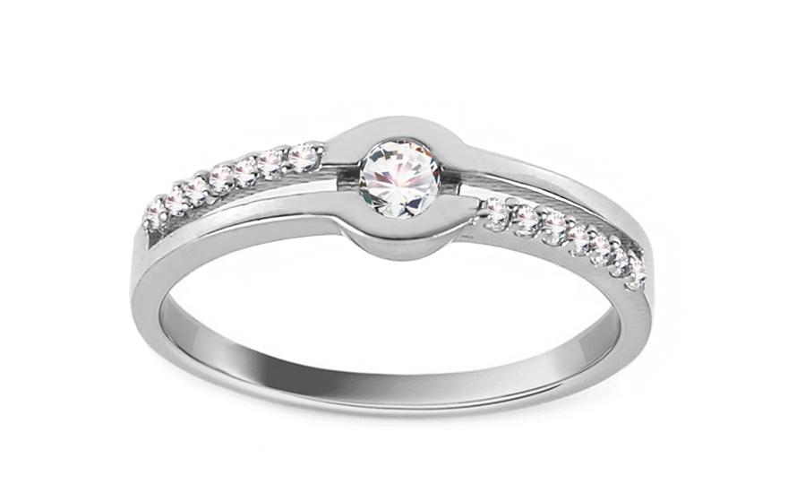 Zlatý zásnubní prsten Isar 2 CSRI1269A
