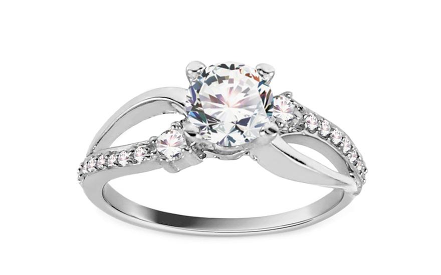 Zlatý zásnubní prsten Isar 29 white CSRI815A