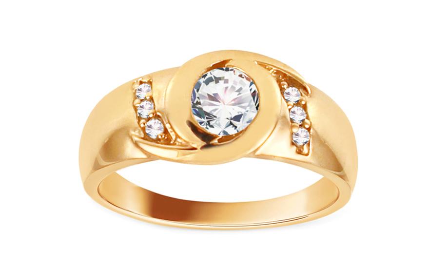 Zlatý zásnubní prsten Jaen CSRI908