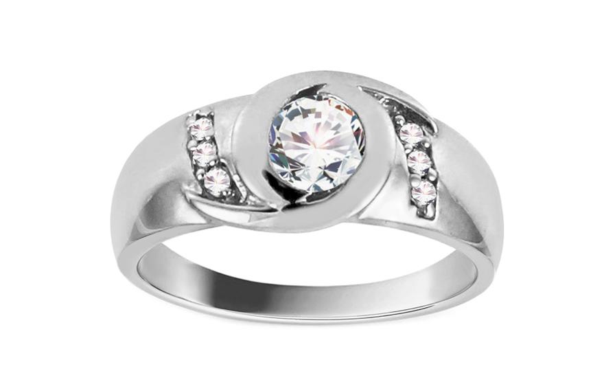 Zlatý zásnubní prsten Jaen white CSRI908A