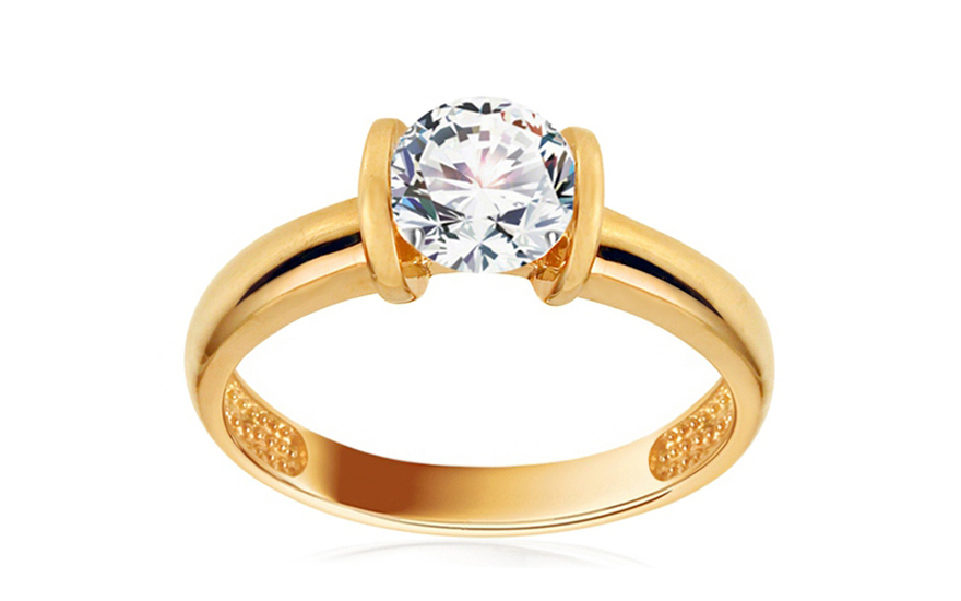 Zlatý zásnubní prsten Jaslyn IZ10744