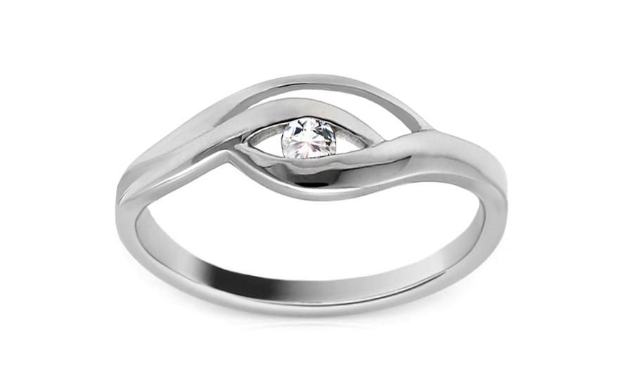 Zlatý zásnubní prsten Pretty 17 CSRI852A