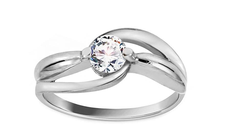 Zlatý zásnubní prsten Ramona 11 white CSRI1278A