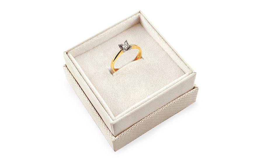 Zlatý zásnubní prsten Ramona 12 CSRI1379