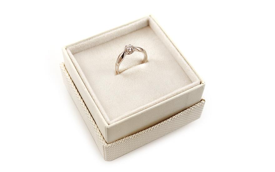 Zlatý zásnubní prsten Ramona 6 white CSRI928A