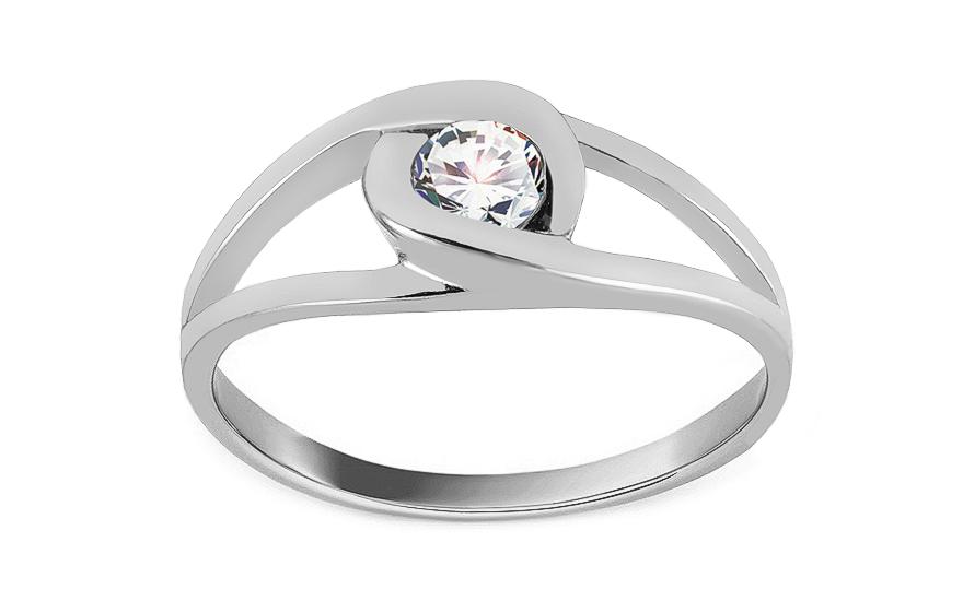 Zlatý zásnubní prsten Ramona 9 CSRI1279A