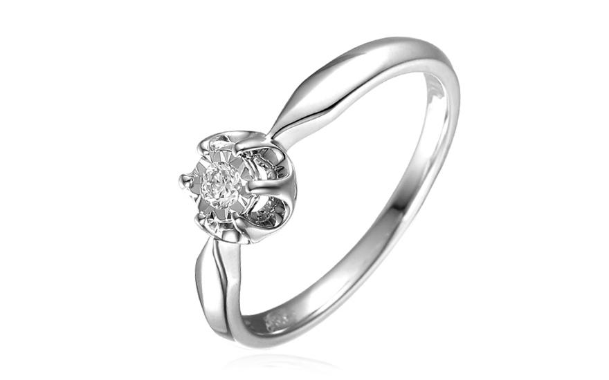 Zlatý zásnubní prsten s brilianty IZBR142A