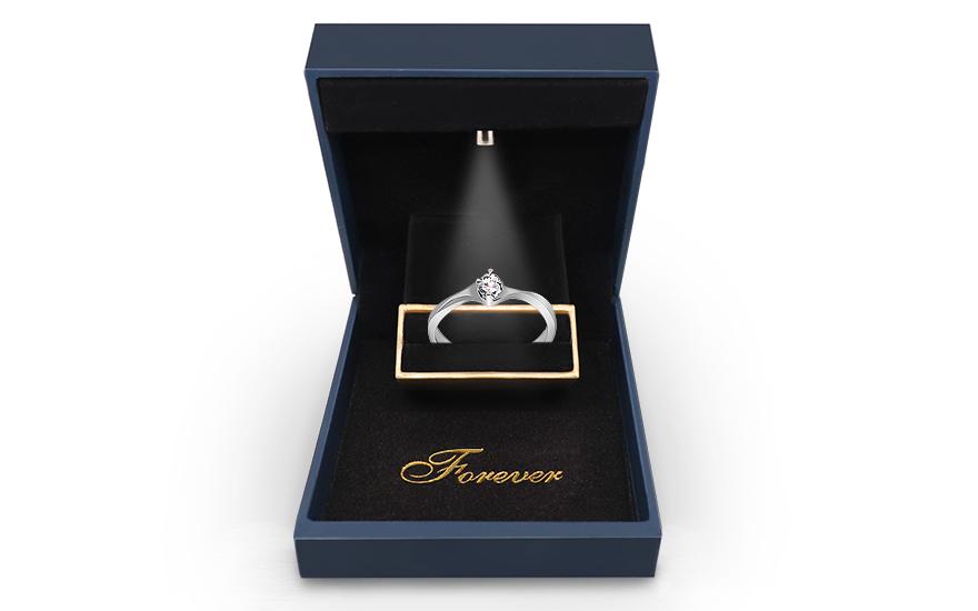 Zlatý zásnubní prsten s diamantem 0,060 ct Kamilah KU637A