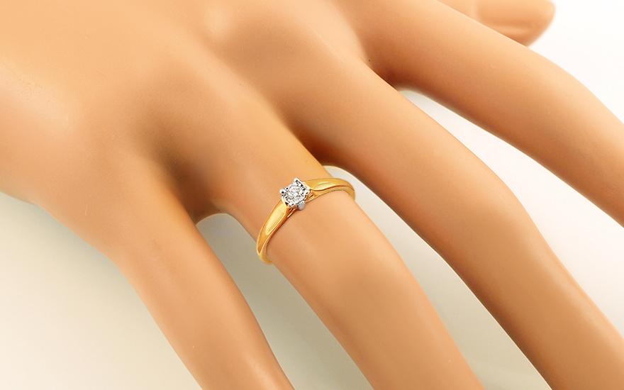 Zlatý zásnubní prsten s diamantem 0,060 ct Kimbra KU627