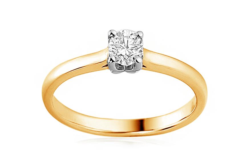 Zlatý zásnubní prsten s diamantem 0,090 ct Billye IZBR173YW