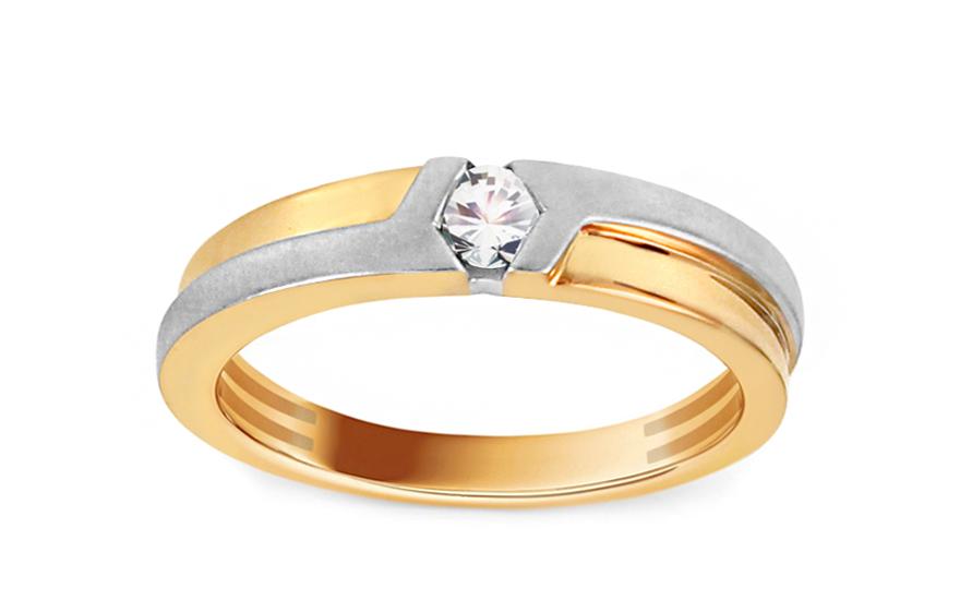 Zlatý zásnubní prsten s diamantem 0,100 ct Adena KU647