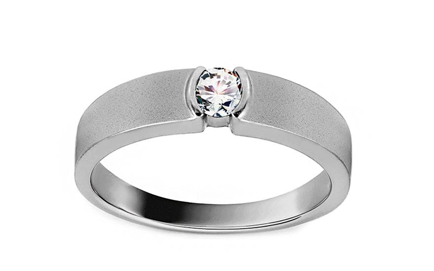 Zlatý zásnubní prsten s diamantem 0,170 ct Caryn KU625A