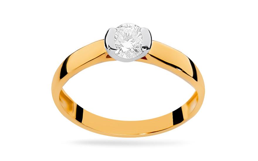 Zlatý zásnubní prsten s diamantem Adair BSBR035