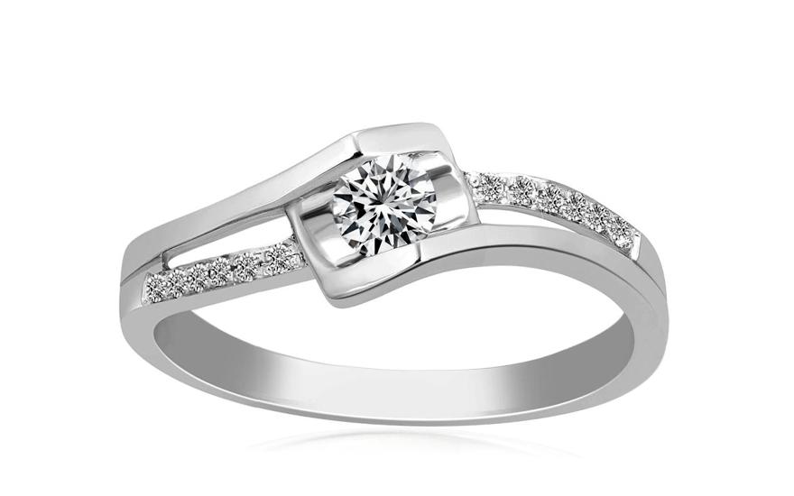 Zlatý zásnubní prsten s diamantem Chaya KU525A