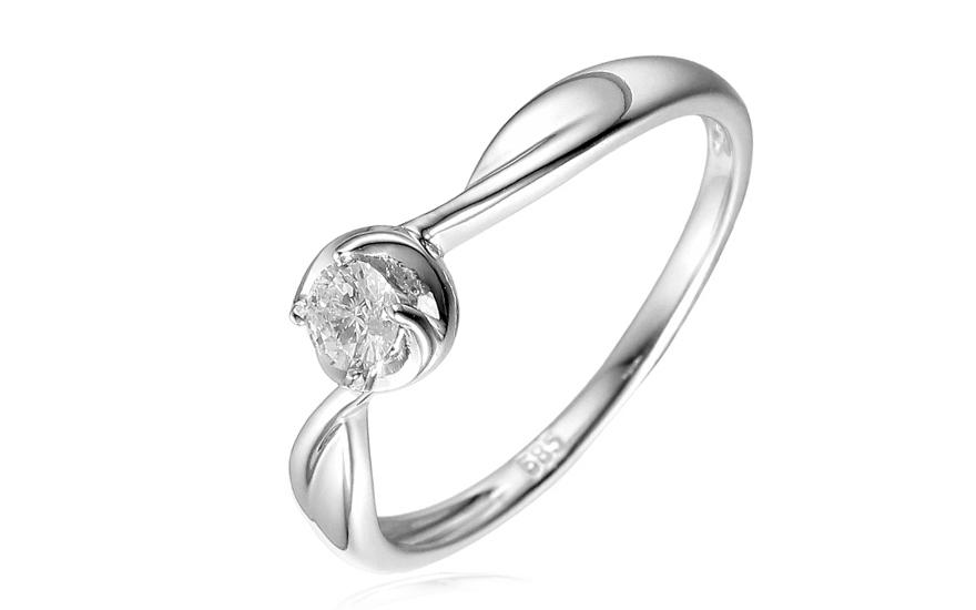 Zlatý zásnubní prsten s diamantem Dacey IZBR164A