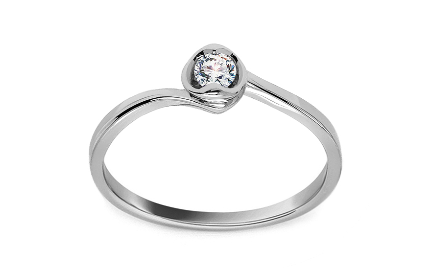 Zlatý zásnubní prsten s diamantem Edalene KU414A