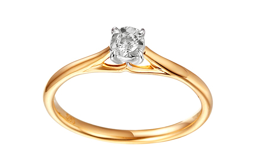 Zlatý zásnubní prsten s diamantem Eliza IZBR300