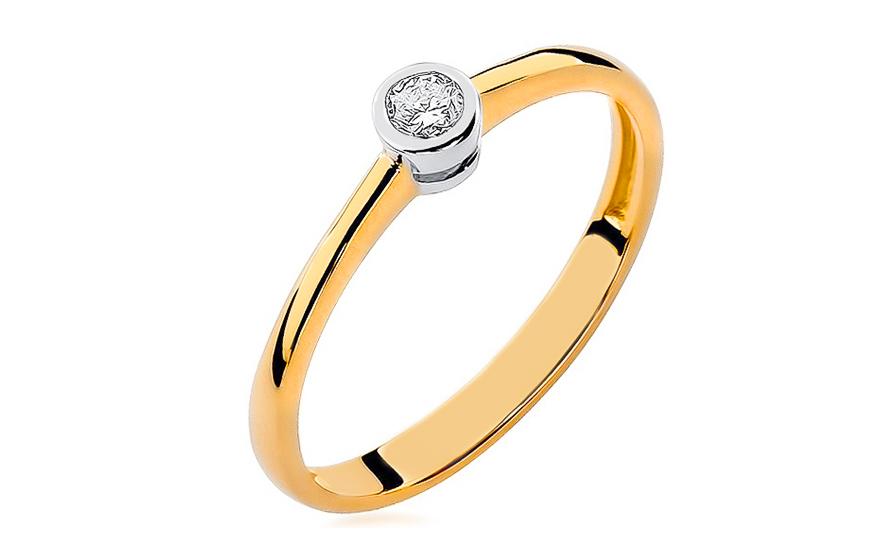 Zlatý zásnubní prsten s diamantem Georgien BSBR010
