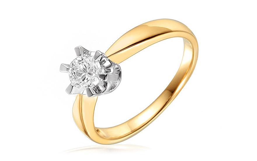 Zlatý zásnubní prsten s diamantem Gioia IZBR195
