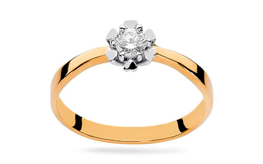 Zlaty Zasnubni Prsten S Diamantem Igraine Pro Zeny Bsbr033