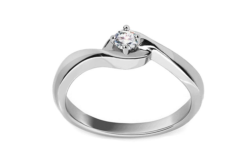 Zlatý zásnubní prsten s diamantem Jaelyn KU392A