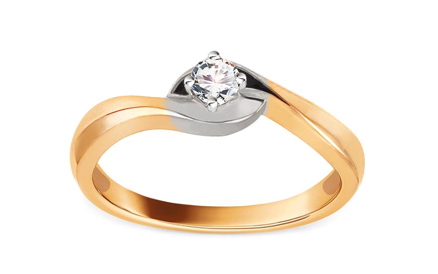Zlatý zásnubní prsten s diamantem Jaelyn KU392Y